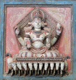Ancient sculpture at Lokanarkavu, Vatakara, Kerala- one of the Navagraha forms