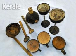 Crafts and Utensils using coconut shell