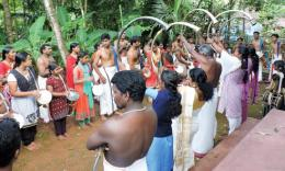 Punarjani and Sopanam artists in a practice session